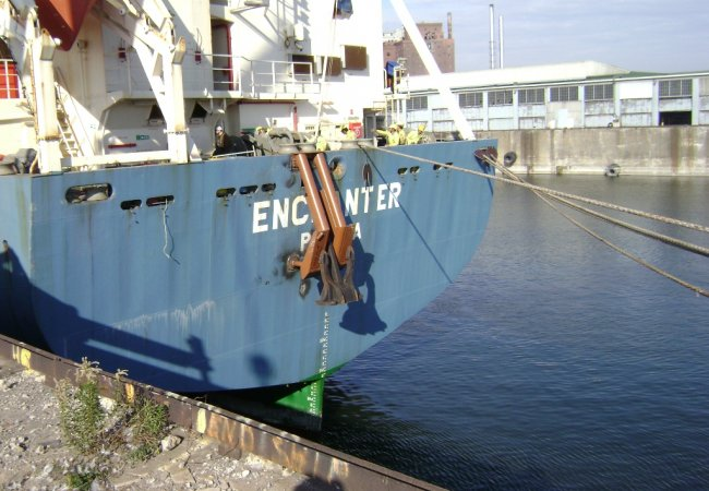 Stern anchor installation